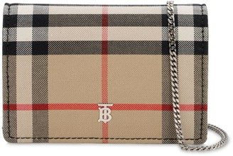Burberry Jessy Mini Vintage Check Chain Wallet
