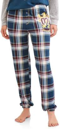 Harry Potter Women's and Women's Plus Blue Plaid Pajama Pant