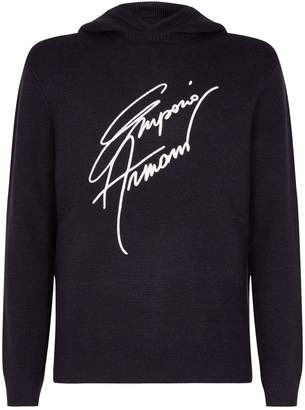 Emporio Armani Signature Knitted Hoodie