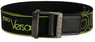 Versace logo print belt