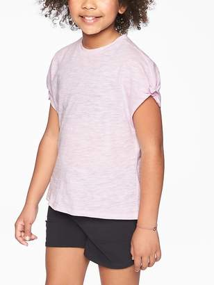 Athleta Girl Tie Sleeve Tee
