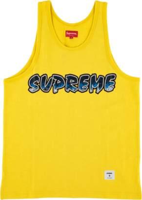 Supreme Splatter Tank Top - 'SS 18' - Dark Yellow