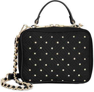 INC International Concepts I.n.c. Quiin Quilt Top Handle Chain Crossbody, Created for Macy's