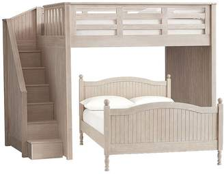 ... Pottery Barn Kids Catalina Stair Loft Bed U0026 Full Bed