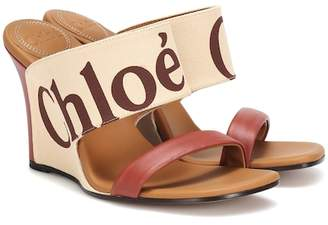 Chloé Canvas and leather wedges