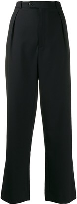 Roseanna high-waisted reversible trousers