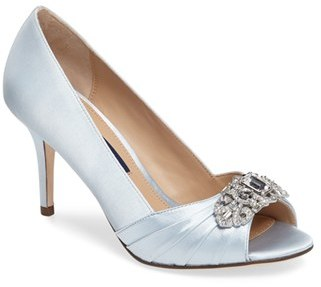 Women's Nina 'Verity' Swarovski Peep Toe Pump $228.95 thestylecure.com