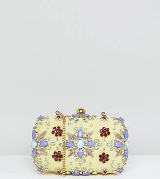 True Decadence Embellished Gem Box Clutch Bag
