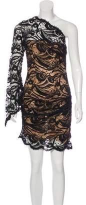 Emilio Pucci Asymmetrical Lace Overlay Dress