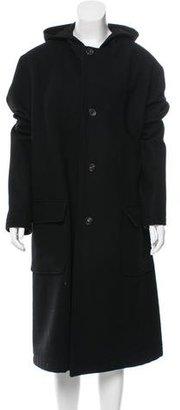 Yohji Yamamoto Wool Long Coat $365 thestylecure.com