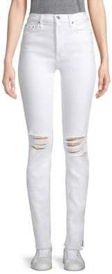Cotton Citizen High-Rise Distressed Skinny Jeans