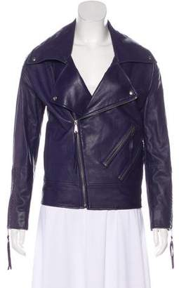 Rebecca Minkoff Oversize Leather Moto Jacket