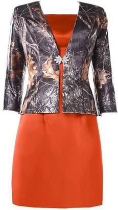 Oumans Modest Mother Of Bride Dress Jacket With Sleeves Camo Formal Gown us