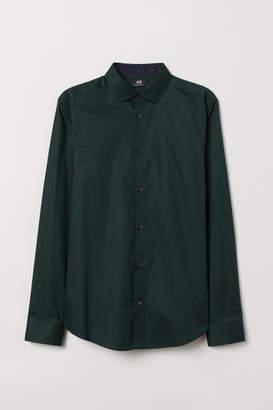 H&M Premium Cotton Shirt - Green