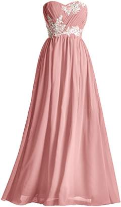 99gown Special Occasion Beaded Lace Pleated Chiffon Formal Prom A line Long Bridesmaid Dress, Color
