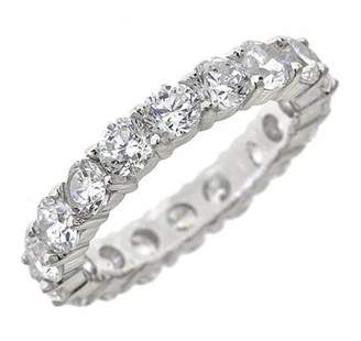 Sterling Forever Sterling Silver Sparkling CZ Eternity Band Ring