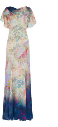 Peter Pilotto Silk Cowl Neck Dress