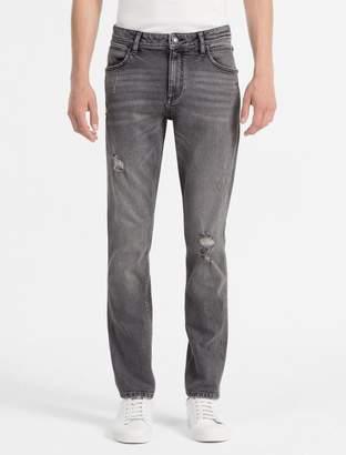 Calvin Klein sculpted cavern destructed slim jeans