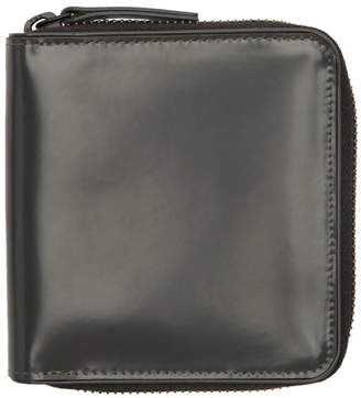 Dries Van Noten Grey Line Zip Around Wallet