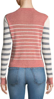 Veronica Beard Brae Striped Crewneck Sweater