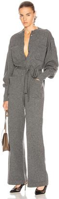 Alberta Ferretti Tie Jumpsuit in Grey | FWRD