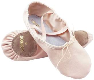 3.1 Phillip Lim s.lemon First Grade Top Layer Leather Ballet Shoes Ballet Slippers Dance Shoes for Girls Children Kids Women, from Small Kids to Adult Sizes (22 EU)