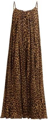 Mes Demoiselles Fetiche Leopard Print Cotton Maxi Dress - Womens - Leopard