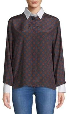 Lanvin Printed Button-Down Shirt