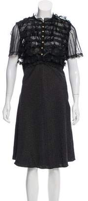 Miguelina Ruffled Silk Dress