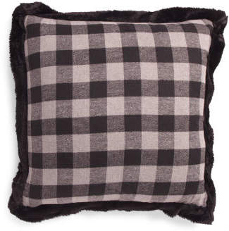 22x22 Gingham Buffalo Plaid Pillow