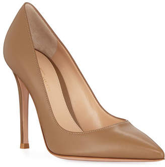 Gianvito Rossi Gianvito 105mm Leather Point-Toe Pumps