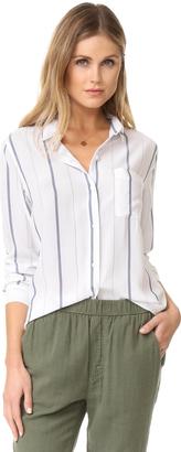 RAILS Aly Stripe Button Down Shirt $148 thestylecure.com
