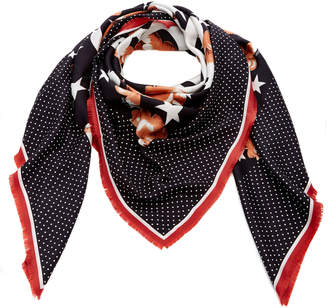 Loewe Stars Anagram Silk Scarf