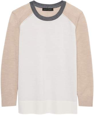 Banana Republic Petite Washable Merino Raglan Sweater