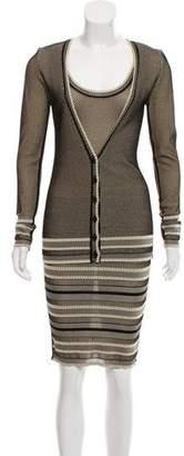Zac Posen Patterned Knit Dress Set