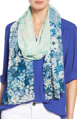Women's Nordstrom Sonnet Floral Silk Scarf $59 thestylecure.com