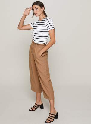 Miss Selfridge Camel Cropped Paper Bag Trousers