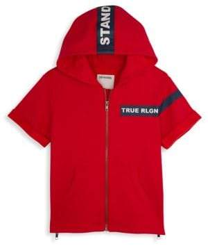True Religion Little Boy's& Boy's Stand Short-Sleeve Hoodie