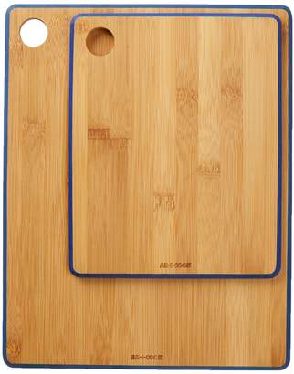 ART AND COOK Blue Bamboo Cutting Board 2-Piece Set