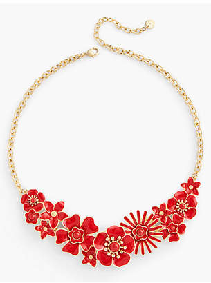 Talbots Floral Enamel Necklace