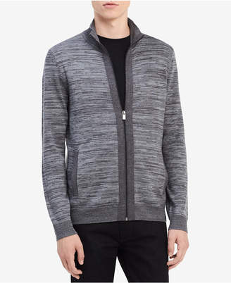 Calvin Klein Men's Merino Zip-Up Sweater, Created for Macy's