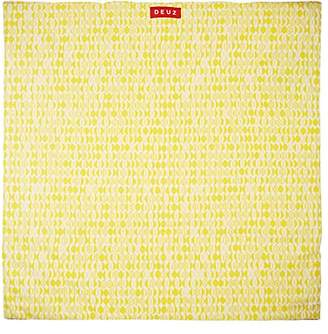 DEUZ Leaf-Print Organic Cotton Floor Mat - Yellow