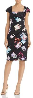 Adrianna Papell Draped Floral Dress - 100% Exclusive