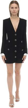 Alessandra Rich V Neck Tweed Mini Dress