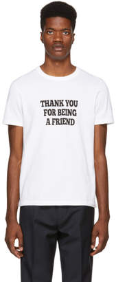 Ami Alexandre Mattiussi White Thank You For Being a Friend T-Shirt