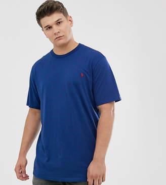Polo Ralph Lauren Big & Tall icon logo t-shirt in blue yacht