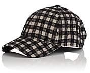 Barneys New York New Era XO Men's Plaid Virgin Wool-Blend Baseball Cap - Black Pat.