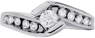 JCPenney FINE JEWELRY LIMITED QUANTITIES 1/2 CT. T.W. Diamond 14K White Gold Bypass Engagement Ring