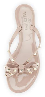 Valentino Rockstud PVC Thong Sandal