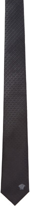 Versace Grey 7 Medusa Tie $175 thestylecure.com